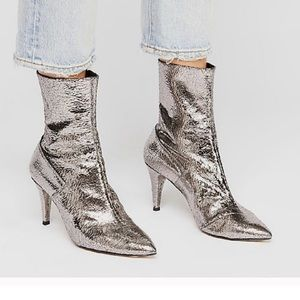 NEW Free People Willa Ankle Boot Silver